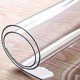 Transparente Alfombra De Piso, PVC Antideslizante Alfombrilla Hidrófugo Durable Protector De Suelo Para Puerta De Entrada Oficina Ordenador Silla De Oficina Mat-60x90cm(24x35inch)-C-Grueso:1.0mm