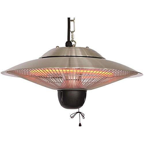 LXDDP Calentador eléctrico para Patio, Montaje en Techo suspendido, Calentador halógeno para Uso en Interiores o Exteriores Calentador Techo Impermeable (Color: Interruptor Cuerda 1500 W)
