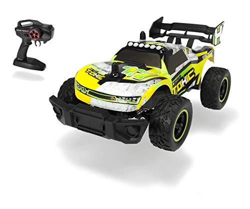 Dickie Toys RC Toxic Flash, RC Auto, ferngesteuertes Auto, Spielzeugauto mit Funkfernsteuerung, Federung, stoßfeste PVC-Karosserie, bis zu 12 km/h, inkl. Batterien, 24 cm, ab 6 Jahren
