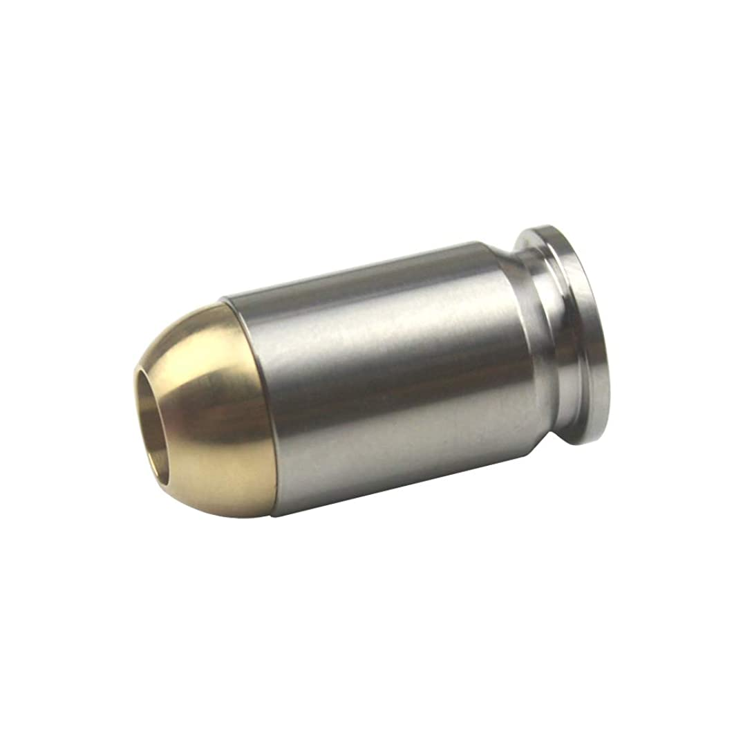 Bullet Shape Titanium with Brass Knife Lanyard Bead EDC Zipper Pull 550 Paracord Necklace Bead Pendant (Natural)