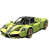 PEXL Technik Auto Bausteine für Ferrari Sportwagen Modell, Technic Rennauto Modellbausatz, 2790 Klemmbausteine Kompatibel mit Lego Technik