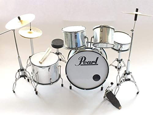 RGM311 Pearl White Miniature Drumkit Rock Guitar Miniatures