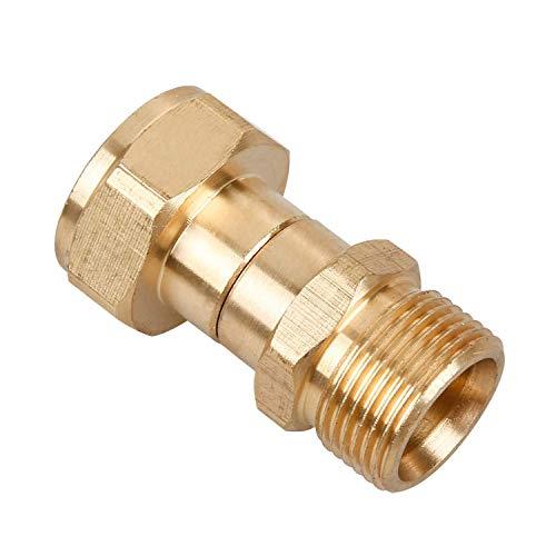 ACAMPTAR Drehgelenk für Hochdruckreiniger, Knickfreie Pistole ein Schlauchanschluss, Metrische Verdrehsicherung M22, 14 Mm Anschluss, 3000 Psi