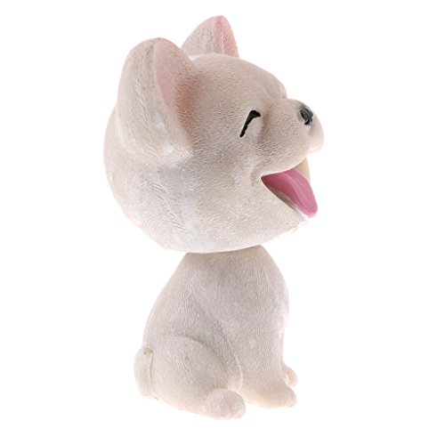 Tongina Car Auto Interior Doll Decoration Shaking Head Nodding Dog Puppy Bobblehead Toys - French Bulldog