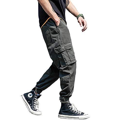 OKJI Mode Streetwear Jeugd Mens Jeans Jogger Broek Geel Kleur Laarzen Cut Slim Fit Been Merk Enkel Gestreepte Broek Gebonden Jeans Mannen