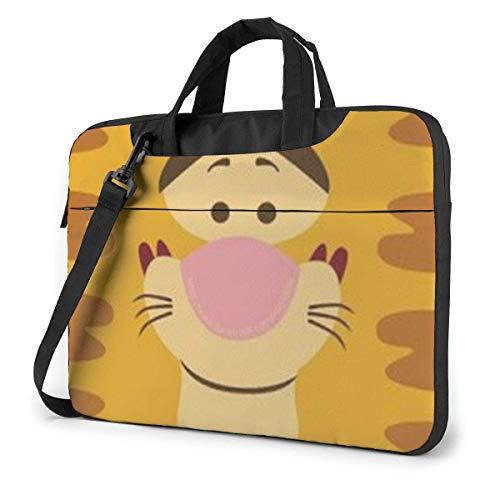 XCNGG Cute Tiger Laptop Bag Business Briefcase for Men Women, Shoulder Messenger Laptop Sleeve Case Carrying Bag- 13 Inch
