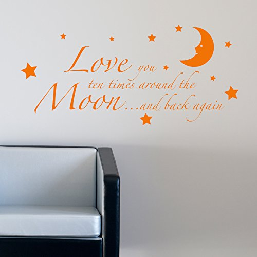 LOVE YOU TO THE MOON AND BACK KIDS NURSERY RHYME WALL STICKER. Words/QuotesStickers muraux/stickers muraux de mur/transferts / stickers muraux