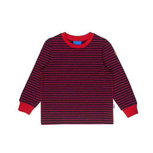 Finkid Rivi Gestreift-Blau, Kinder Sweaters und Hoodies, Größe 90-100 - Farbe Navy - Red