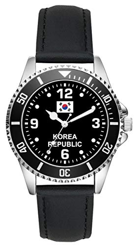 Korea Republic Koreaner Geschenk Artikel Idee Fan Uhr 6341