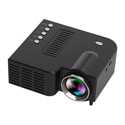 Beamer Projektor Elektrisch LED-Projektor UC28C Tragbarer LED-Mikroprojektor Schwarz Unterstützung für tragbare LED-Heimvideoprojektoren Filme im Freien