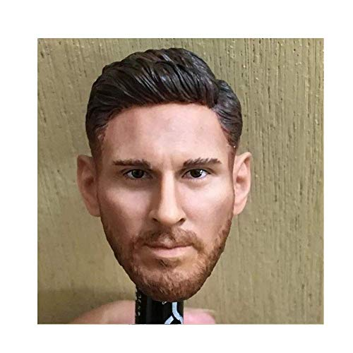 ZSMD 1/6 Scale Messi Head Carving Beard versie
