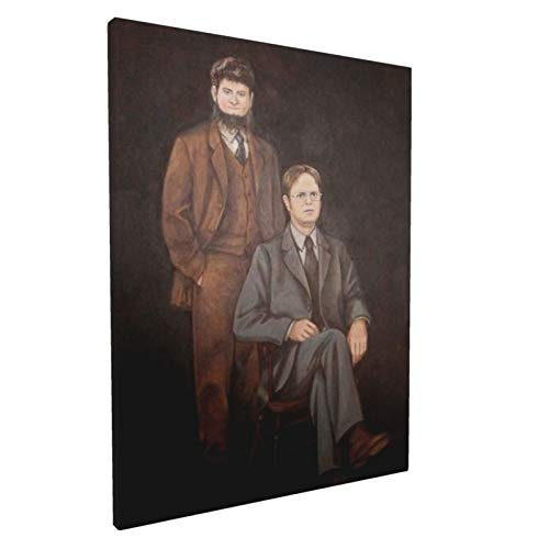 Dwight And Mose Painting Wall Art Decor Canvas Print Picture Framed Artwork Ready To Hang For Bedroom Home Living Room Wall Decoration 12x16in