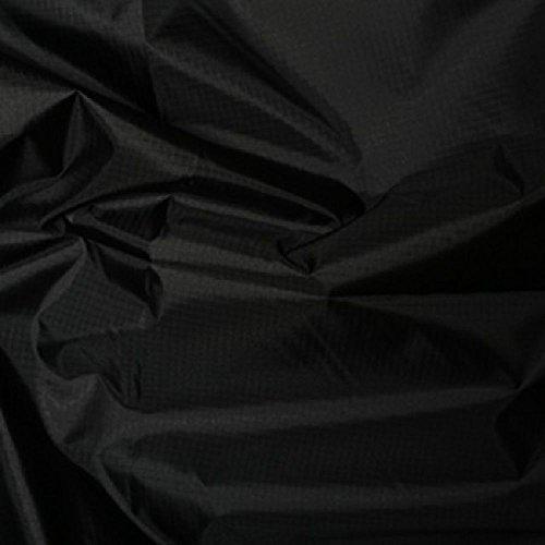 Stoff, gewebt, gefärbtes Polyester, reißfest, wasserfest, 150cm breit, Meterware, Schwarz