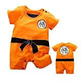 Beal ShoppingShort Sleeve Baby Boy and Girl Dragon Ball Z Romper Costume Jumpsuit Baby Clothes (12-24 Months), Orange1