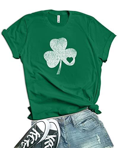 Decrum Womens Green St Patricks Day Shirt - Shamrock Shirt | Shmrck HRT, XL