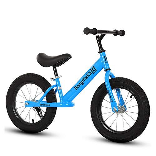 Bicicleta de Equilibrio para Niños Bicicleta sin Pedal para Niños Pequeños con Marco de Aleación de Aluminio Asiento Ajustables Pequeños para Niños de 3 a 6 Años,Blue-Upgrade,14