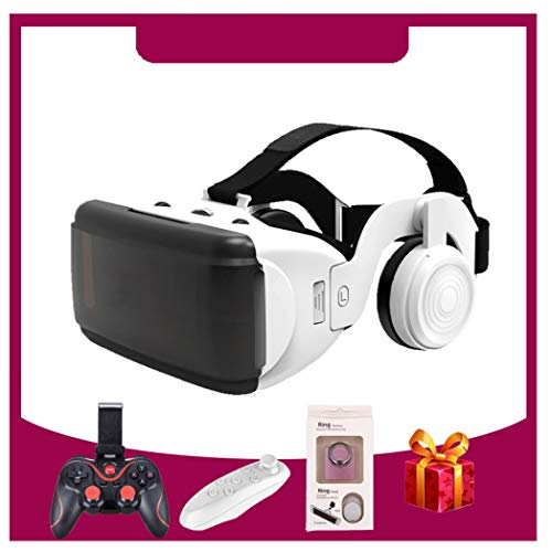 ZJJY VR Headsets, Virtual Reality Headset, Bluetooth Controller for iPhone 11/Pro/X/Xs/Max/XR/8P/7P,for Samsung S20/S10/S9/S8/Plus/Note 10/9/8,Phones w/ 4.7-6.5in Screen, L049xq