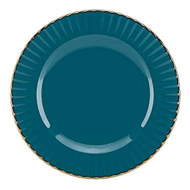 Marchesa Shades of Teal Party Plate by Lenox