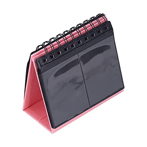 Foto Vertica Album, 3 Zoll 68 Taschen Desktop Fotoalbum mit 17 Seiten Lagerung Hält Kartenetui Weihnachtsgeschenk für Polaroid Kamera Postkarte Sammeln(Rosa)