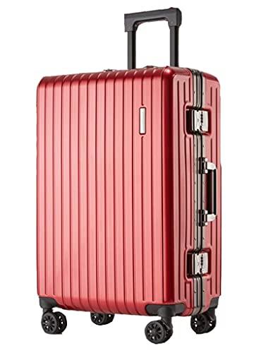 Boda Luna de Miel Maleta de Viaje Caja de dote Maleta de Boda Caja con Ruedas roja Caja de código de Viaje Caja de dote de Boda (Color: F, Tamaño: 24 Pulgadas)
