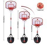 ColiCor Basketballkorb Kinder, 97-170CM Kinder Einstellbare Basketballständer mit Basketball, Inflator und Scoring Gerät
