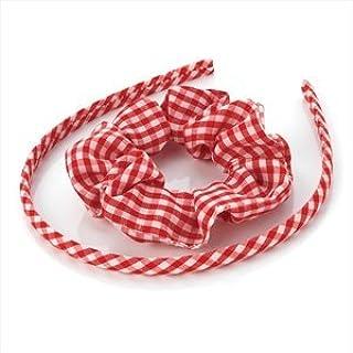 School Scrunchies Hairband Headband Hair Tie Elastic Band Gingham Uniform Dress