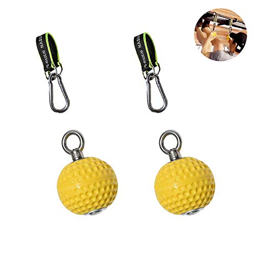 Lispeed Trainingskanonenkugel mit Handgelenk-Kugel Klimmzug Fitnessgeräte Training Power Ball Hält Grips Pointing Handgriff Krafttraining Ball (97MM)