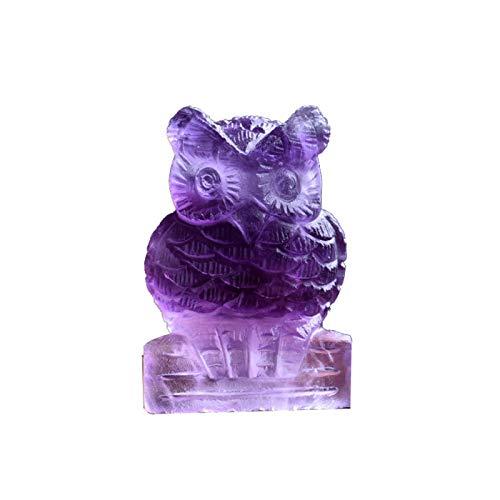 ZTTT 1 stück Natürliche Fluorit Eule Kristall Mineral Schmuck Weisheit Glück Vogel Familie Dekoration Studie Dekoration