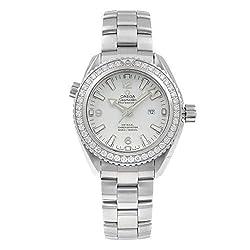 Seamaster Planet Ocean White Dial Automatic Diamond Watch