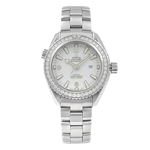 Omega Seamaster Planet Ocean White Dial Automatic Diamond Ladies Watch 23215382004001