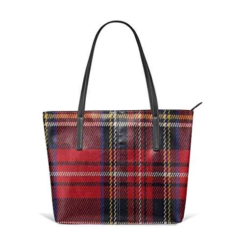 Red Buffalo Plaid Fashion Purses And Handbags For Women Satchel Shoulder Tote Bags