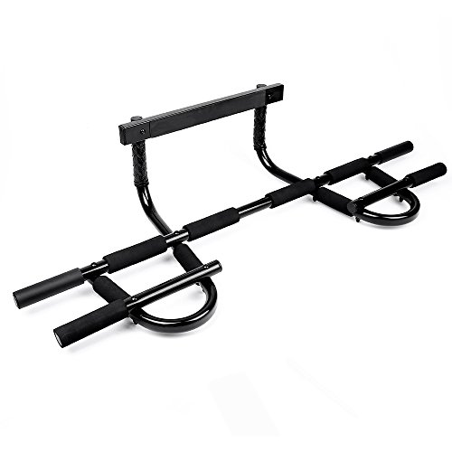 Sportneer Pull Up Bar Doorway Chin Up Pullup Bar Multi-Grip Trainer Workout for Home Gym, Holds Up to 330 lbs