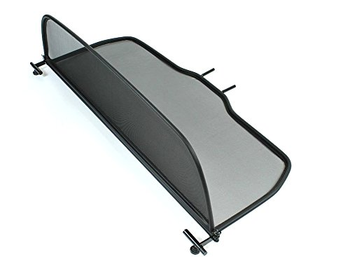 GermanTuningParts Windschott für Ford Focus II 2007-2015 - Klappbar - mit Schnellverschluss – Schwarz | Windabweiser | Windblocker | Wind Deflector
