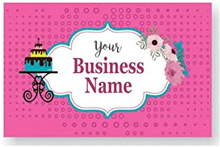Design Your Own Personalized Business Card Custom Bakery Visiting Card- Front and Back-110 LBS -Thick paper