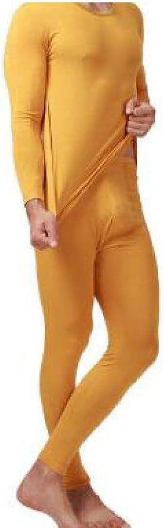 Mens Thermal Underwear Modal Cotton Long John Set Ultra Soft Warm Base Layer Top and Bottom
