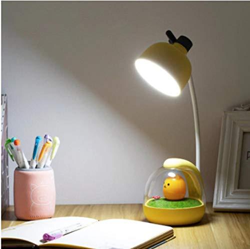 Lámpara de escritorio LED táctil ajustable luz nocturna lindo flexo USB lámpara de escritorio carga estudiante niños dormitorio luz lectura protección ojos