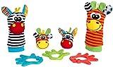 Playgro Geschenkset Dschungelfreunde, 7-teilig, Mit Hand- und Fußgelenksrasseln, Ab 0 Monaten, Mehrfarbig,...
