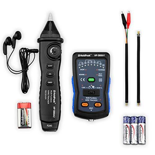 Probador de Cables RJ11 Rastreador de Cables RJ45 Buscador de Línea HP-5900A Probador de Teléfono Multifunción Probador de Línea de Red Lan, Comprobación de Continuidad de la Lan Ethernet