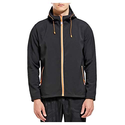LILIHOT Herren Hoodie Sweatjacke Sport Windbreaker Outdoor Dicke warme Jacke Mantel Softshel-lKapuzen Winterjacke Sweat Zip Kapuzenjacke