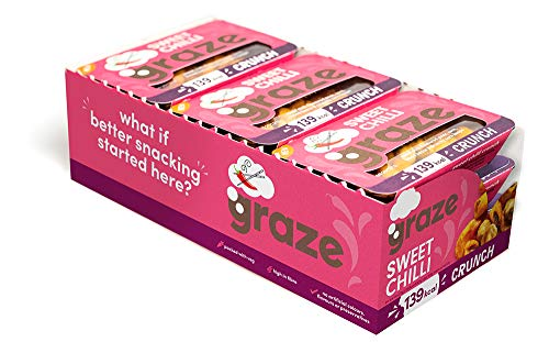 Graze Sweet Chilli Crunch - Vegan Savoury Healthy Snack Punnet - 31g (Pack of 9)
