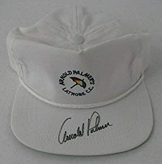 d3932160d Arnold Palmer LATROBE Country Club Autographed Signed White Golf Hat 142172  - JSA Certified -