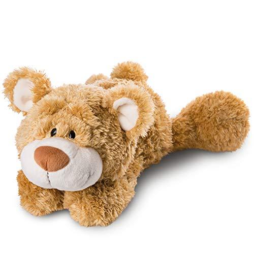 NICI 46514 Kuscheltier Bär 50 cm liegend – Plüschtier für Mädchen, Jungen & Babys – Flauschiges Stofftier zum Spielen, Sammeln & Kuscheln – Gemütliches Schmusetier, Goldbraun