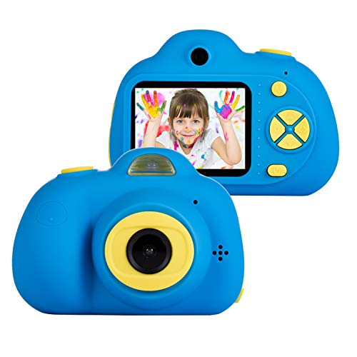 omzer Kids Camera Toys for 5-9 Year Old Boys, Shockproof Digital Cameras for Child Boys Girls, Compact Camcorder Best Birthday Festival Gifts for Kid, Dark Blue(16GB Memory Card Included)