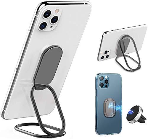 Soporte de Anillo para teléfono Celular, Soporte Universal para Anillo de Dedo, rotación de 360 Grados(Negro)