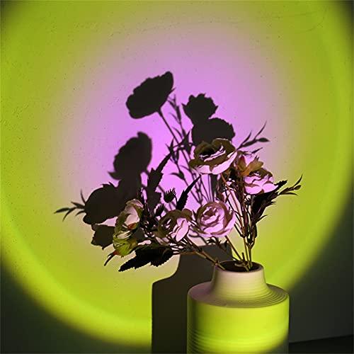 YRWL Proyector de luz de puesta de sol, rotación de 180 grados, lámpara de proyección de puesta de sol, lámpara de proyección romántica para fiestas, salón y dormitorio, sol