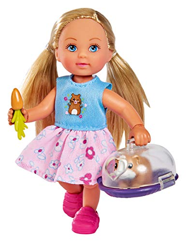 Simba 105733485 - Evi Love Doktor Evi Meerschweinchen / Evi geht zum Tierarzt / mit Meerschweinchen und Transportbox / mit Karotte / Ankleidepuppe / 12cm, für Kinder ab 3 Jahren