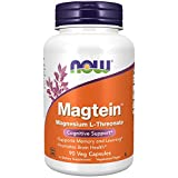 NOW Supplements, Magtein™ with patented form of Magnesium (Mg), Cognitive Support*, 90 V...