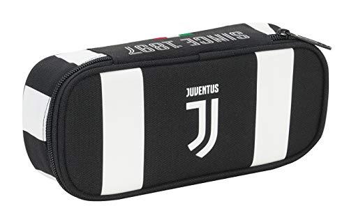 Seven Bust.Round Plus Juventus Coaches Federmäppchen, 23 cm, 0.5 liters, Schwarz (Bianco e Nero)