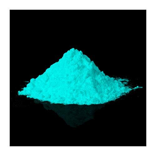 lumentics Premium Leuchtpulver GrünBlau 40g - Im Dunkeln leuchtendes Farbpulver. Nachleuchtend, phosphoreszierend, fluoreszierend und nachleuchtend. UV Pigmente für Leuchtfarbe, Harz, Lack, Epoxy