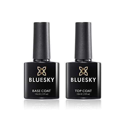 Bluesky UV LED Gel auflösbarer Nagellack 10ml kit top and base coat, 1er Pack (1 x 2 Stück)